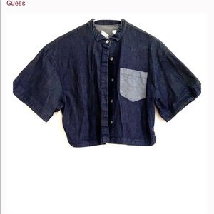 Crop top jean button up from Guess